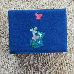 Blue Claire's Jewelry Box with Butterflies